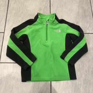 Northface Boys Pullover 3/4 ZIP Up Green
